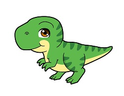 How to draw a Cute Cartoon Tyrannosaurus Rex Dinosaur Chibi Kawaii