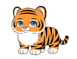 How to draw a Cute Cartoon Chibi Kawaii Tiger