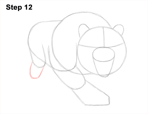 How to Draw a Mean Tiger Roaring Growling Stalking 12