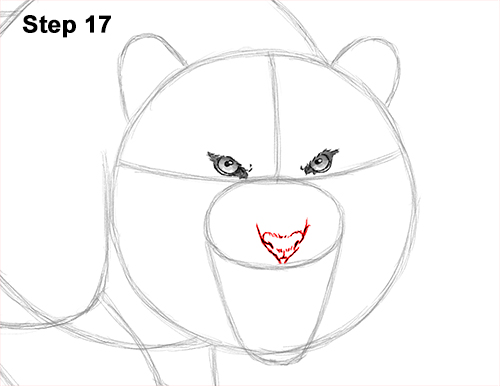 How to Draw a Mean Tiger Roaring Growling Stalking 17