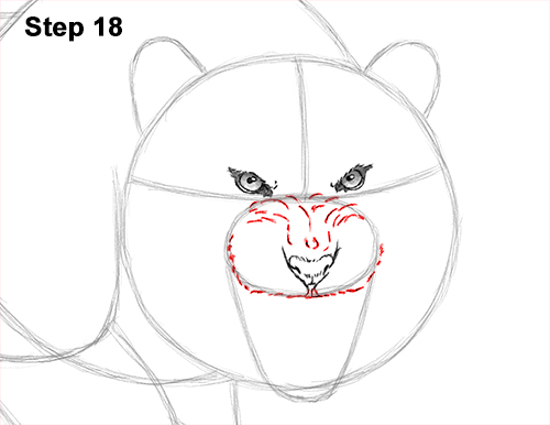 How to Draw a Mean Tiger Roaring Growling Stalking 18