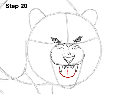How to Draw a Mean Tiger Roaring Growling Stalking 20