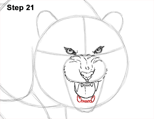 How to Draw a Mean Tiger Roaring Growling Stalking 21