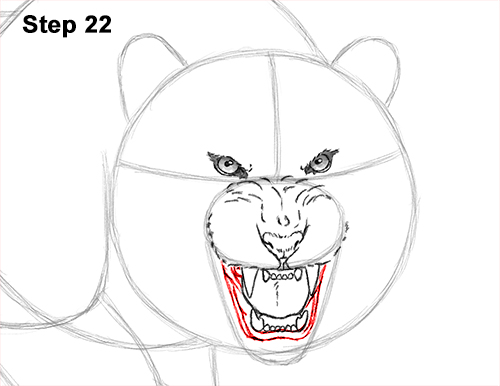 How to Draw a Mean Tiger Roaring Growling Stalking 22