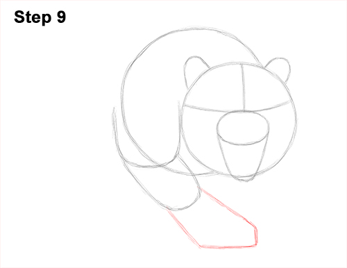 How to Draw a Mean Tiger Roaring Growling Stalking 9