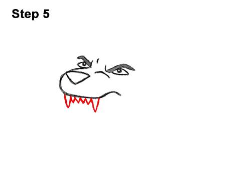How to Draw Cartoon Tiger Roaring 5
