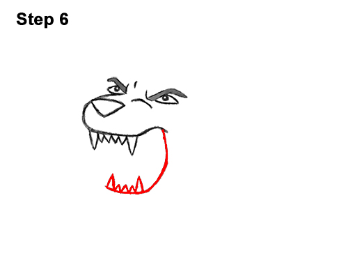 How to Draw Cartoon Tiger Roaring 6