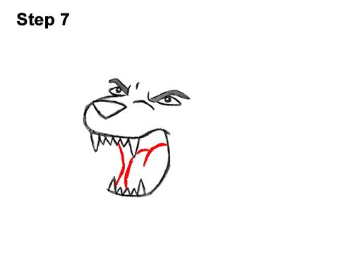 How to Draw Cartoon Tiger Roaring 7