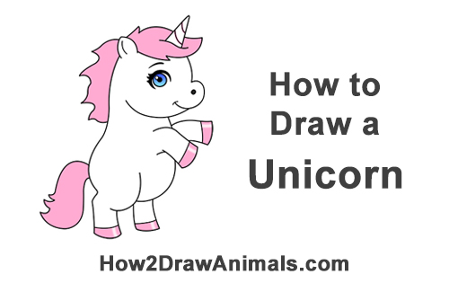 How to Draw a Cute Little Mini Chibi Cartoon Unicorn Horse Pony