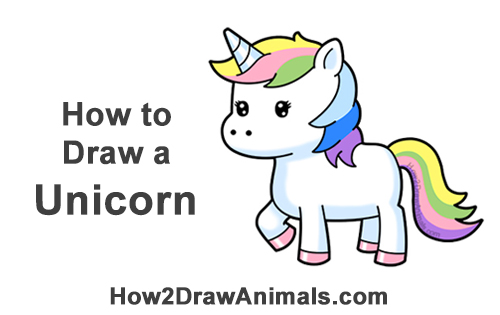 How To Draw A Unicorn Cartoon Video Step By Step Pictures