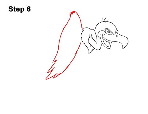 How to Draw a Cool Cartoon Vulture Condor Buzzard 6