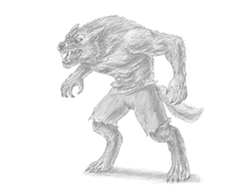 How to Draw a Scary Werewolf Wolfman Monster