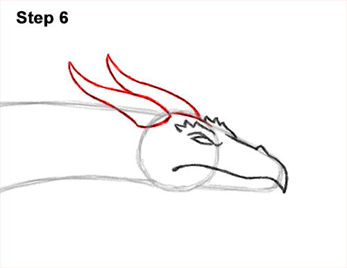 How to Draw a Wind Dragon Flying Wings 6
