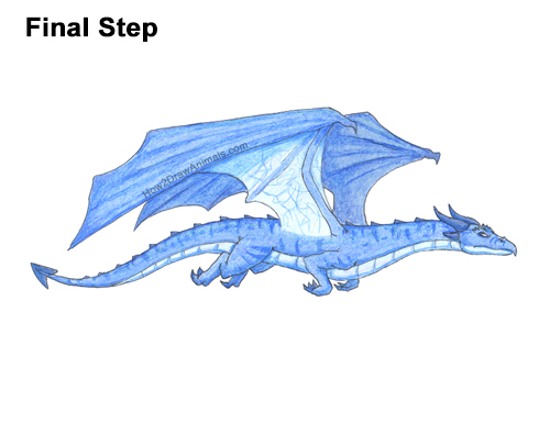 How to Draw a Wind Dragon Flying Wings