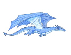 How to Draw a Blue Wind Dragon Wings Color