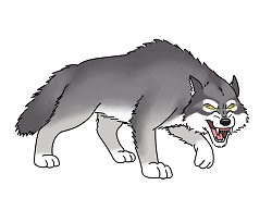 How to Draw a Cartoon Wolf Growling