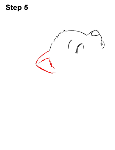 How to Draw Cute Little Cartoon Wolf Pup Cub Howling 5
