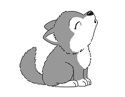 How to draw a Cute Cartoon Wolf Howling Chibi Kawaii