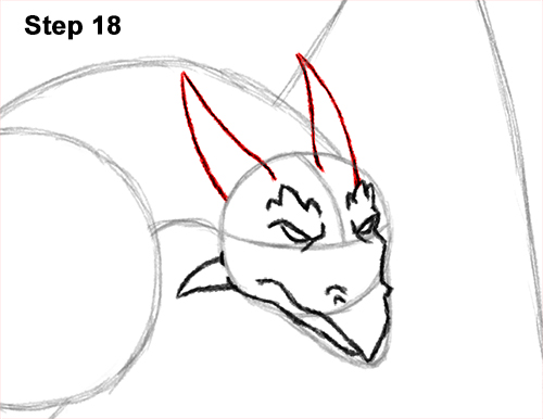 How to Draw Wyvern Dragon Wings Flying 18