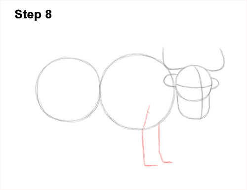 How to Draw a Domestic Himalayan Tibet Yak 8