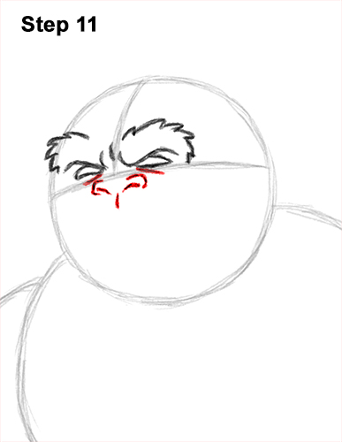 How to Draw a Yeti Abominable Snowman Monster 11