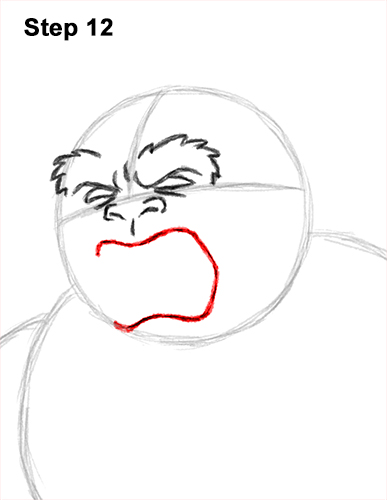 How to Draw a Yeti Abominable Snowman Monster 12