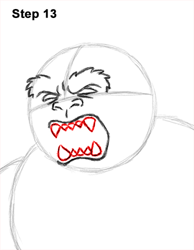 How to Draw a Yeti Abominable Snowman Monster 13