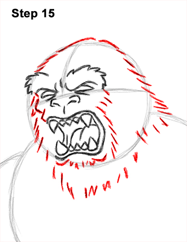How to Draw a Yeti Abominable Snowman Monster 15
