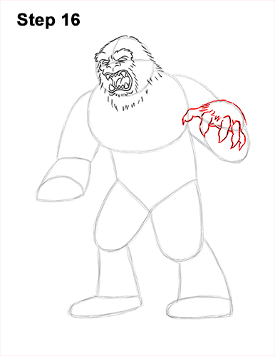 How to Draw a Yeti Abominable Snowman Monster 16