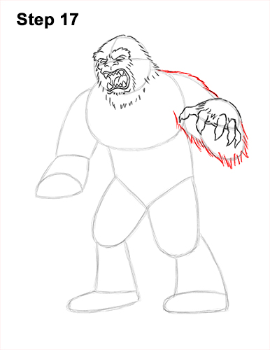 How to Draw a Yeti Abominable Snowman Monster 17