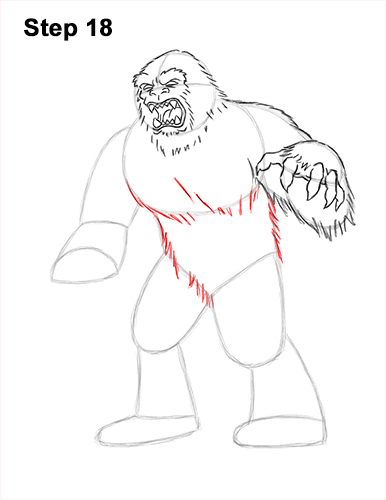 How to Draw a Yeti Abominable Snowman Monster 18
