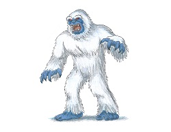 How to Draw a Yeti Abominable Snowman